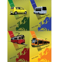 transport posters vector image