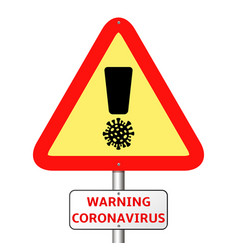 triangular prohibition or warning covid-19 sign vector image