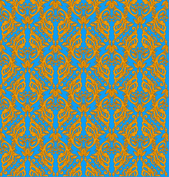 victorian ornate wallpaper vector image