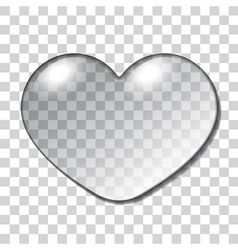 Water Heart Drop vector image