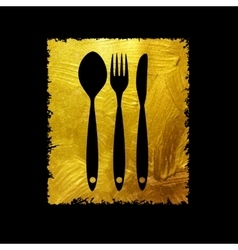 Cutlery Spoon Fork and Knife Icon vector image