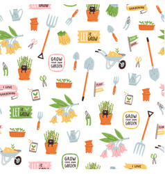 garden theme pattern vector image