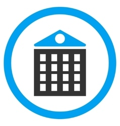 Multi-Storey House Rounded Icon vector image