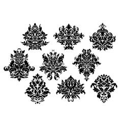Vintage floral elements and motifs vector image vector image