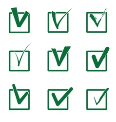 Checkboxes vector image vector image