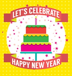 Happy New Year Cake vector image