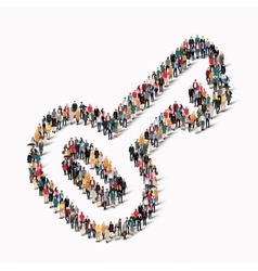 people shape key group vector image vector image