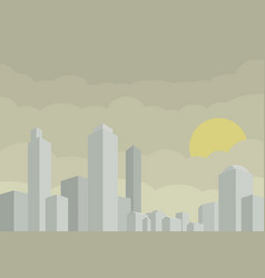 stylized city with buildng and skyscraper vector image