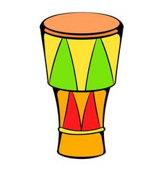 Atabaque musical instrument icon cartoon vector