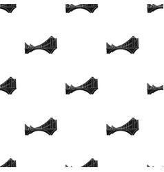 bridge icon in black style isolated on white vector image