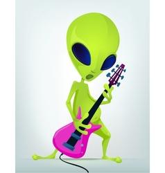 Cartoon alien guitar vector image vector image