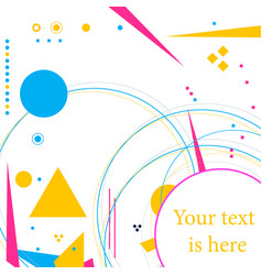 creative abstract design background vector image vector image
