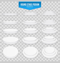 creative of 3d round stage vector image
