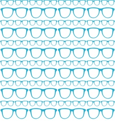 seamless blue pattern of sunglasses vector image