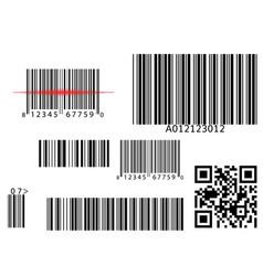 bar qr code scanning digital code scan vector image vector image