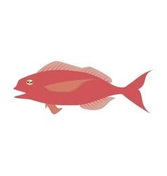 cod fish sealife food ocean vector image