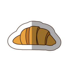 color croissant bread icon vector image