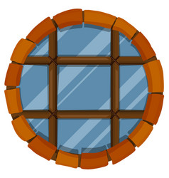 glass window with bricks frame vector image vector image