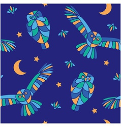 Magic midnight - seamless pattern vector image vector image