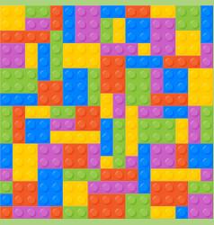 Seamless Pattern Plastic Constructor Bricks vector image