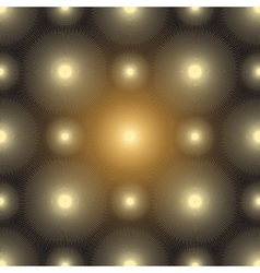Seamless pattern with gold glowing spots vector image