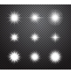 Set of stars and sparkles lights effects vector image vector image