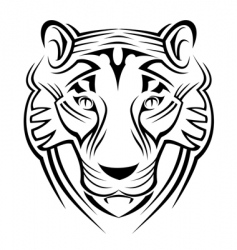tiger sign vector image vector image