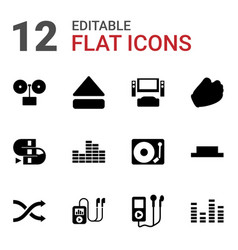 12 player icons vector