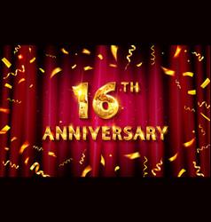 16th anniversary logo vector image