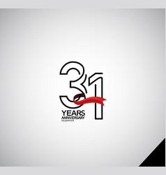 31 years anniversary logotype simple design vector