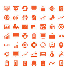 49 marketing icons vector image