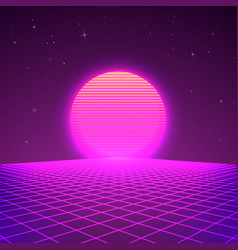 80s style background sci-fi or retro music poster vector image