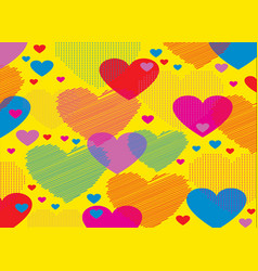 abstract background consisting of hearts vector image