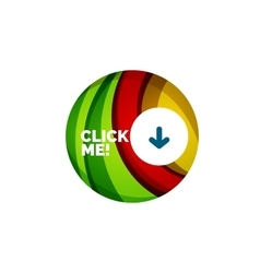 Abstract circle button vector
