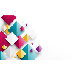 Abstract colorful rectangles 3d background vector