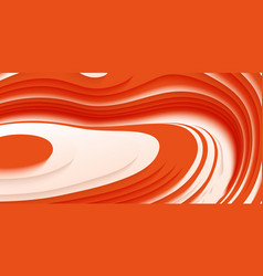 abstract paper cut terrain paper sclices with vector image