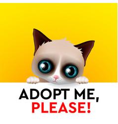 Adopt me red heart cute cartoon character help vector