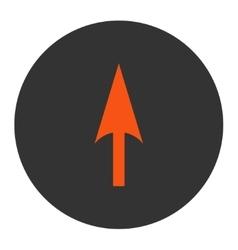 Arrow Axis Y flat orange and gray colors round vector