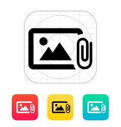 Attach photo icon vector