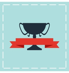 black trophy icon vector image