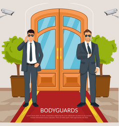 Bodyguard at doors vector
