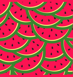bright seamless pattern with slices watermelon vector image