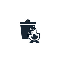 Burnable trash creative icon from recycling icons vector