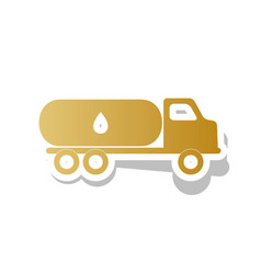 Car transports oil sign golden gradient vector