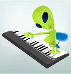 Cartoon alien Piano vector image