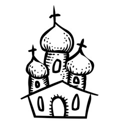 cartoon image of church icon religion symbol vector image