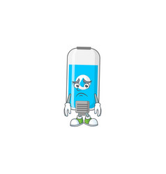 Cartoon picture wall hand sanitizer vector