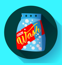 cartoon washing powder laundry powder vector image