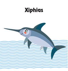 cartoon xiphias vector image
