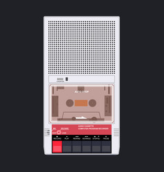cassette player 80s 90s vector image